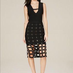 Bebe black caged dress